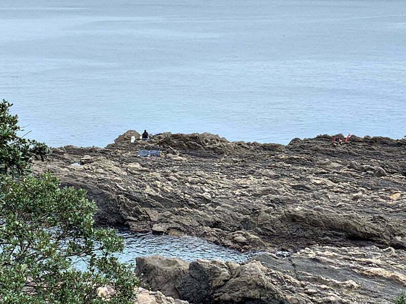 中紀のエギングポイント潮吹き岩