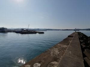 磯間漁港エギング